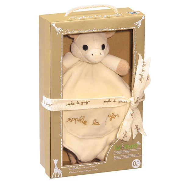 Sophie La Girafe So'Pure Comforter With Pacifier Holder