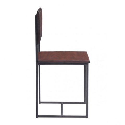 Zuo Papillion Dining Chair Distressed Cherry Oak