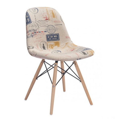 Zuo Solo Dining Chair Vintage Postage Print
