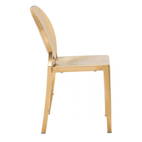 Zuo Eclispe Dining Chair Gold