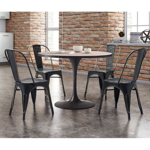 Zuo Elio Dining Chair Anti Black Gold - Set of 2