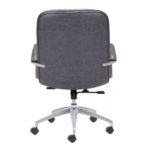Zuo Avenue Office Chair Vintage Gray