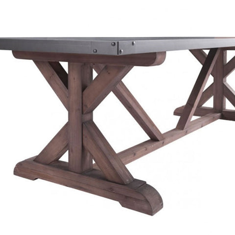 Zuo Durham Dining Table Gray & Distressed Fir