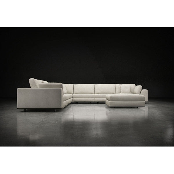 Modloft Perry Large Corner Sectional Sofa in Moonbeam