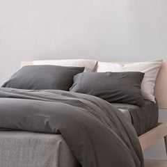 Area Bedding Perla Slate Full/Queen Flat Sheet