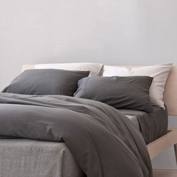 Area Bedding Perla Slate Full Fitted Sheet