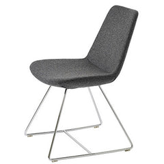 B&T Pera Wire Base Wool Side Chair by Nuans Design