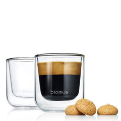 Blomus Nero 2 Pc Espresso Glass Set