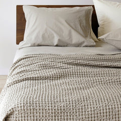 Area Bedding Anton Ivory King Flat Sheet