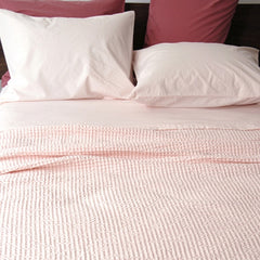Area Bedding Anton Pink King Fitted Sheet