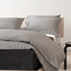 Area Bedding Ray Graphite King Duvet Cover
