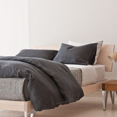 Area Bedding Camille Dark Grey Twin Duvet Cover