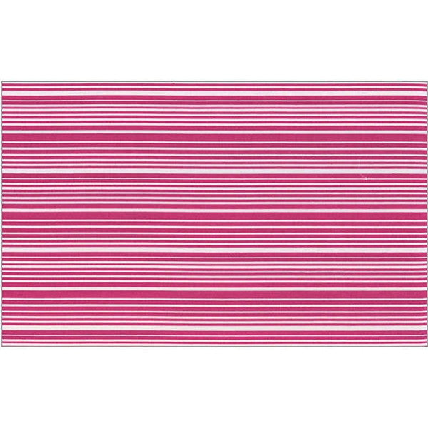 DwellStudio Sheet Set – Thin Stripe Fuschia (full size)