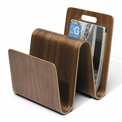 OFFI W Molded Ply Magazine Stand - Walnut