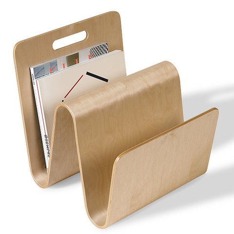 OFFI W Molded Ply Magazine Stand - Birch