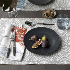 DwellStudio Placemats Aerial Major Brown Set of 4