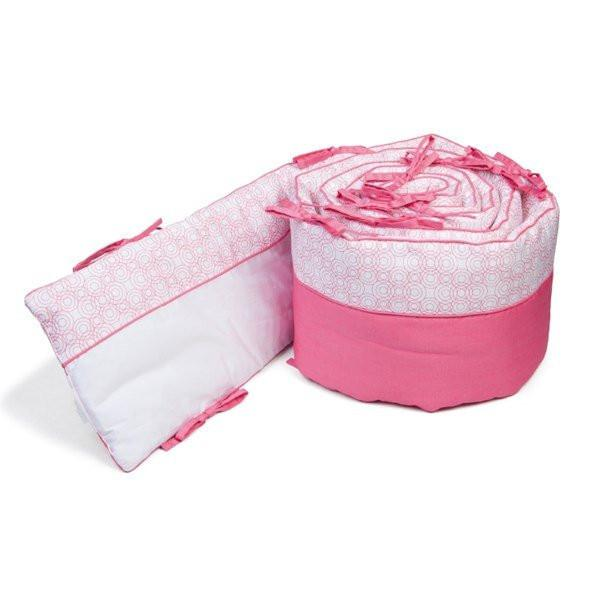 Bloom Lollipop Organic Bumper Bedding Rosy Pink