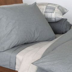 Area Bedding HEATHER Grey Standard Pillow Cases