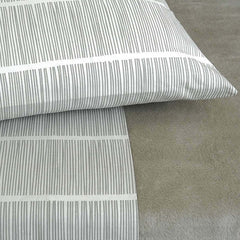 Area Bedding PINS Grey Pair Pillow Cases - Standard