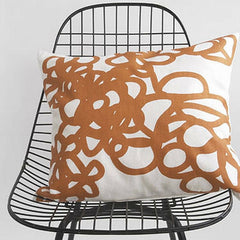 Area Bedding DAISY Decorative Pillow Orange