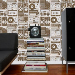 Aimee Wilder Wallpaper Analog Nights Chocolate