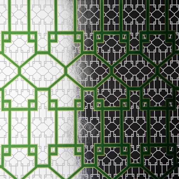 French American Wallpaper - Chinauseam China Gate Spring On Silver