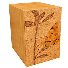 Iannone Cork Filing Pedestal Cabinet Butterfly Graphic