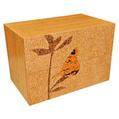 Iannone Cork Filing Lateral Cabinet Butterfly Graphic
