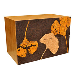 Iannone Cork Filing Lateral Cabinet Gingko Leaf Graphic