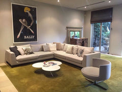 B&T Modena Sectional With Chaise Lounge by Nuans Design