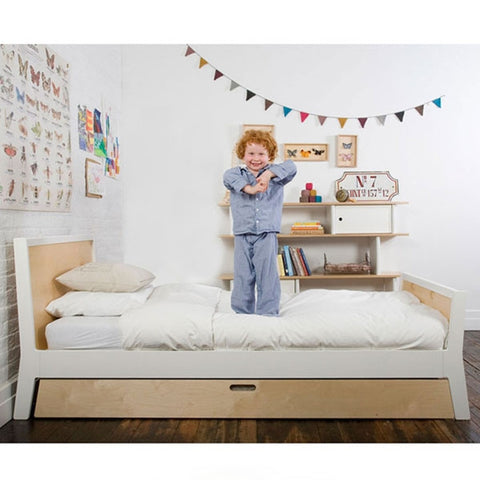 Oeuf Sparrow Twin Bed - White