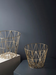 ferm LIVING Wire Basket Brass S, M, L