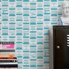 Aimee Wilder Wallpaper Brain Candy Aqua