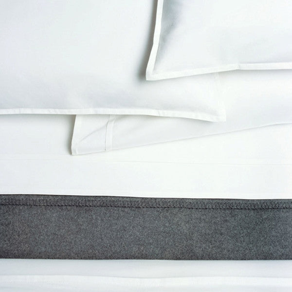 Area Bedding PLEAT White Organic Flat Sheet - Twin