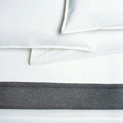 Area Bedding PLEAT White Organic Pair Pillow Cases Standard