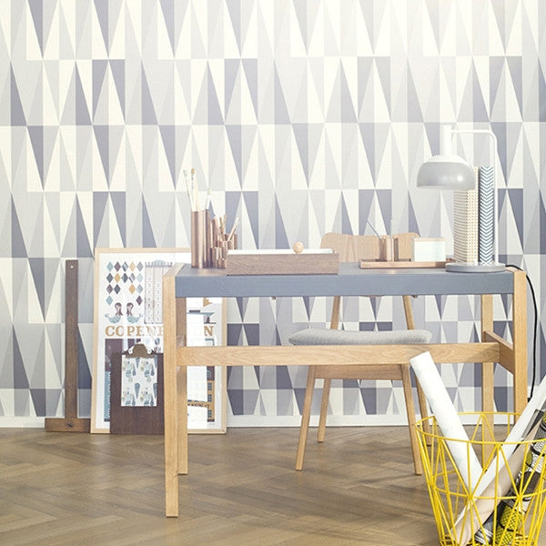 ferm LIVING Wallpaper Spear Grey No. 152