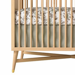 DwellStudio Crib Skirt SOLID Moss
