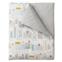 DwellStudio Play Blanket SKYLINE Lt. Blue