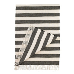 DwellStudio Throw Draper Stripe Major Brown