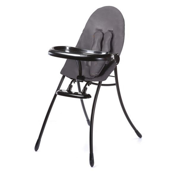 Bloom Nano Matt Black Highchair- Snakeskin Grey