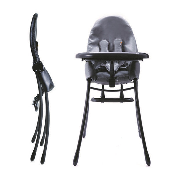 Bloom Nano Matt Black Highchair Snakeskin Grey