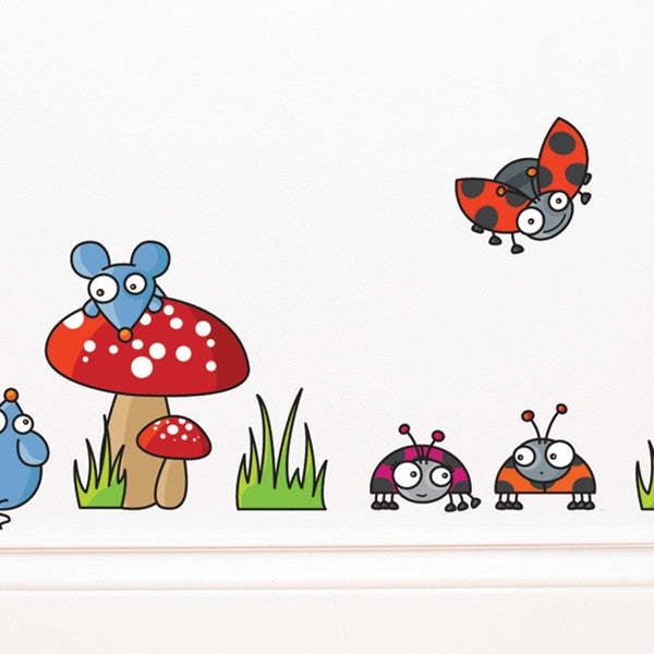 ADzif Wall Sticker Mice and Ladybugs