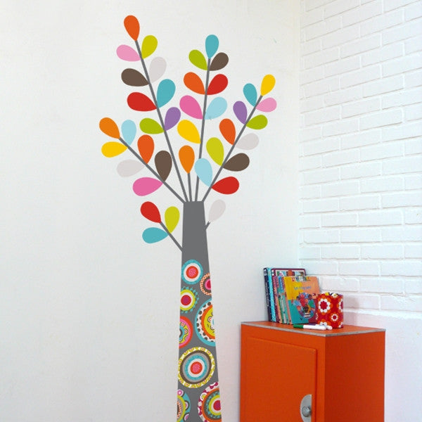 ADzif Wall Sticker Colourful Tree