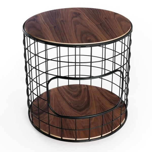Gus* Modern Wireframe End Table Table