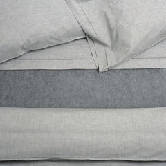 Area Bedding HEATHER Grey Duvet Cover - Twin