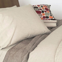 Area Bedding HEATHER Natural Flat Sheet - King