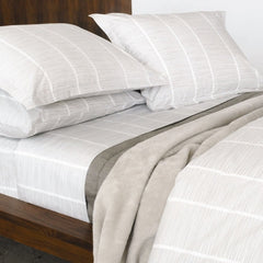 Area Bedding PINS Grey Fitted Sheet - King
