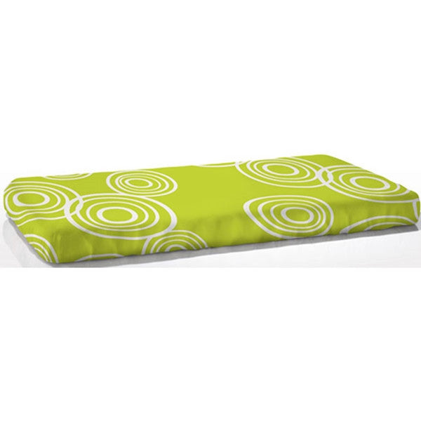 NOOK Fitted Crib Sheet Puddle - Lawn