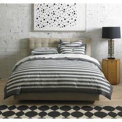 DwellStudio Duvet Set Graphic Stripe Ink King