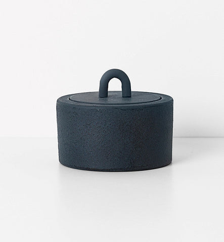 ferm LIVING Buckle Jar Dark Blue